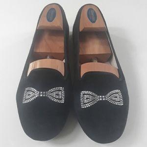 Ugg Swarovski crystal black bowtie flats